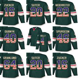 Ryan Jerseys Australia - Custom Mens Momens Kids Minnesota Wild 16 Jason Zucker 20 Ryan Suter 40 Devan Dubnyk 46 Jared Spurgeon 64 Granlund USA Flag Hockey Jerseys