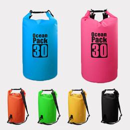 Yoga Gear Australia - 7 Colors Outdoor Dry Waterproof Bag Waterproof Floating Dry Gear Bags For Kayaking Boating Rafting Swimming 2L 3L 5L 10L 15L 20L 30L M236Y
