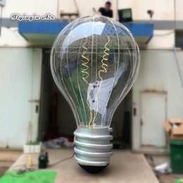 $enCountryForm.capitalKeyWord UK - Large Lighting Inflatable Light Bulb Replica 3m 4m Height Customized Hanging Lamp Balloon With Light Strip For Concert Ceiling Decoration