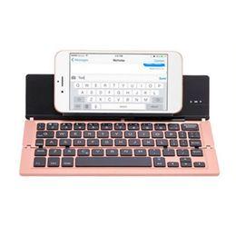 $enCountryForm.capitalKeyWord UK - 59 Key Aluminum Alloy Portable Ultra Slim Wireless Keyboard Ergonomic X Architecture Bracket Plug And Play USB Bluetooth Folding