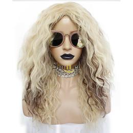 $enCountryForm.capitalKeyWord Australia - Tina Turner Costume Wig 80s Rocker Cosplay Women Men Mullet Hair Curly Blonde