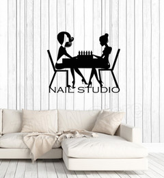 $enCountryForm.capitalKeyWord NZ - Nail Studio Sign Wall Sticker Nails Art Polish Salon Decal PedicureManicure Beauty Wall Window Decor Stickers Wall Poster