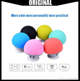 $enCountryForm.capitalKeyWord Australia - Wholesale Portable Bluetooth Speaker Wireless Handsfree Mushroom Speaker With Sucking Disc Bracket for iphone samsung MP3 pad tablet pc