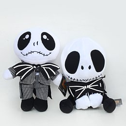 nightmare before christmas gifts NZ - 20cm The Nightmare Before Christmas Jack Skull Plush Toy 2 Styles Skull Jack Stuffed Doll Christmsa Gift for Kids MMA2695-8