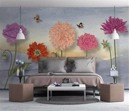 Small House Decoration Australia - 3d Wallpaper Nordic Small Fresh Hand Painted Watercolor Cartoon Flowers Living Room Bedroom Background Wall Decoration Mural Wallpaper