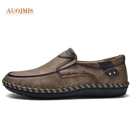 $enCountryForm.capitalKeyWord Australia - AUOJMIS 2019 new wild peas shoes men's handmade men's shoes lazy breathable comfort wear-resistant youth