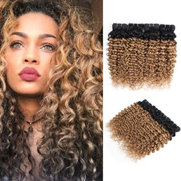 $enCountryForm.capitalKeyWord NZ - Ombre Blonde Water Wave Hair Bundles Peruvian Curly Hair 1B 27 Honey Blonde 10-24 inch 3 4 Pieces 100% Remy Human Hair Extensions