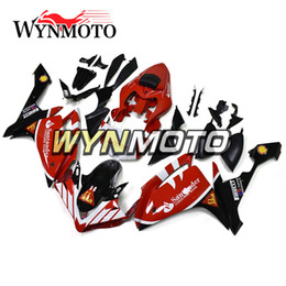 $enCountryForm.capitalKeyWord Australia - Santander Red White Injection Bodywork +Gifts For Yamaha YZF1000 R1 Year 2007 2008 Complete Fairing Kit R1 07 08 Body Kit Best Cowling