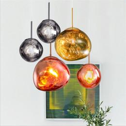 Discount modern bedroom lights - Tom Dixon Melt Pendant Lights Globe Ball Modern Hanging Lamp for Living Room Loft Industrial Home Decor Classic Light Fi