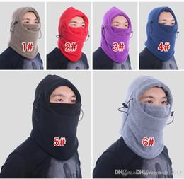 Boys Skull Hats Australia - 9Color winter warm Fleece beanies hats for men skull bandana neck warmer balaclava ski snowboard face mask Thickening catch balaclavas b272