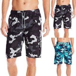 Discount camouflage short pants for men - Men Camouflage Splice Stripe Beach Work Casual Men Short Trouser Shorts Pants men's swimming trunks for swimming zw