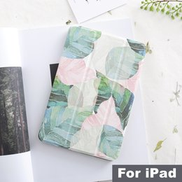 Wholesale Literary Leaf Magnet Flip Cover For Ipad Pro Air Mini Tablet Case Cover For Ipad T190710