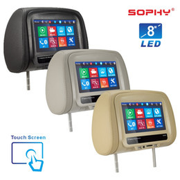 Tft Speakers Australia - New 8 inch TFT LED Touch Screen MP5 Multi-Media Player Universal Car Headrest Monitor AV USB SD Bluetooth FM IR Built-in Speakers SH8068-MP5