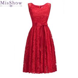 $enCountryForm.capitalKeyWord Australia - hot Sale Red Lace Cocktail Dress Elegant Short Cheap Simple Burgundy Formal Dresses Sexy Sleeveless Prom Gown Robe De