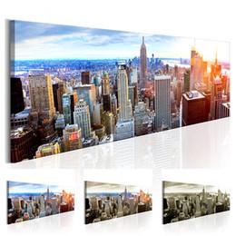 York Canvas Prints Australia - NEW YORK Building Statue Design Canvas Print Wall Art Modern Home Decoration, Choose Color & Size( No Frame ) (Multicolor)