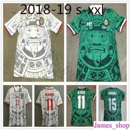 d621e7c2bf4 Best Thailand Quality Retro Version 1998 Mexico World Cup Classic Vintage  Mexico retro jersey Home Green HERNANDEZ BLANCO 11# football shirt