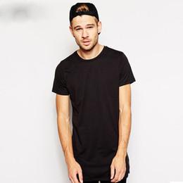 5deca8073 Brand White Hip Hop T Shirt Men Zipper Split T-shirt Long Line Tshirt  Streetwear Men's Clothing Short Sleeve Tees Tall Tx150 R