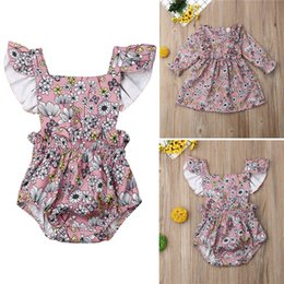 $enCountryForm.capitalKeyWord Australia - PUDCOCO Cute Toddler Kids Baby Girl Clothes Floral Sleeveless Jumpsuit Romper Playsuit Long Sleeve Dress Sisters Matching Outfit