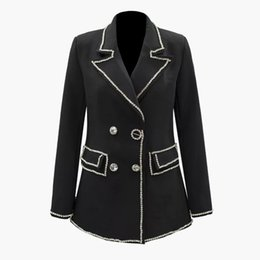 $enCountryForm.capitalKeyWord Australia - 2019 new Womens small suit jacket fashion stitching diamond suit female color lapel split long-sleeved slim loose jacket female