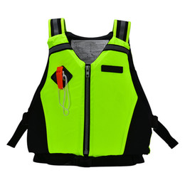 Wholesale Dynamic Paddle Sports Life Vest Survival Vest With Emergency Whistle And Reflective Strips For Diving Swimming Sports Jacket