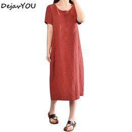 ad1c8bb6fb8 Women Cotton Linen Shirt Dress 2018 Celmia Summer Sarafans Vestidos Robe  Femme Short Sleeve Pockets Vintage Beach Sundress Blusa