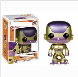 Discount quality gold years - 2019 Funko Pop! Anime Dragon Ball Super Frissa gold Vinyl Action Figure with Box #47 Toy Gift Good Quality for kids toys