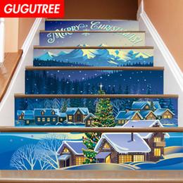 $enCountryForm.capitalKeyWord NZ - Decorate Home 3D Christmas cartoon art wall Stair sticker decoration Decals mural painting Removable Decor Wallpaper G-660