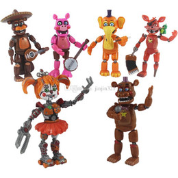 high puppets Australia - 6pcs a Lot Five Nights At Freddy Action Figures Doll Toys 14cm PVC High Quality Removeable Cartoon Toys Kids Gift Tabletop Decoraton DHL