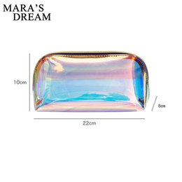 $enCountryForm.capitalKeyWord Australia - Mara's Dream 2019 Laser Waterproof Washing Lipstick Bag Stereo Transparent Makeup Storage Bag