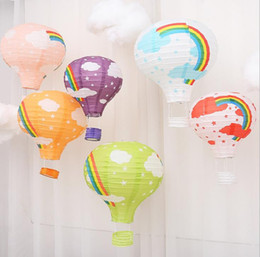 $enCountryForm.capitalKeyWord Australia - Rainbow Hot Air Balloon Decoration Background Ceiling Hanging Garland Lantern Baby Shower Kids Birthday Wedding Party decor 30CM 40CM colors