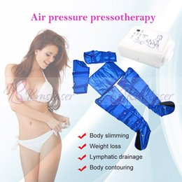 Air Pressure Slimming Suit Australia - 16pcs air bags blue color vest suit air pressure pressotherapy body slimming weight los body shaping spa salon machine