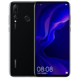 "dual sim black cell phone tv Australia - Original Huawei Nova 4 4G LTE Cell Phone 8GB RAM 128GB ROM Kirin 970 Octa Core Android 6.4"" Full Screen 48.0MP Fingerprint ID Mobile Phone"