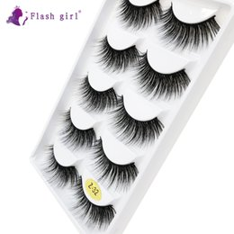 z flash UK - Factory wholesale Z-32 the newest Flash girl Z series natural mink eyelashes 5pairs Handmade mink eyelashes custom packaging box