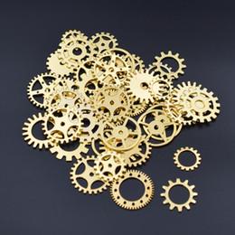 Steam Punk Gears Australia - Accessories Findings Components 20pieces mixed Gear steam punk Metal Charms beads findings for Jewelry Making DIY Handmade filler craft