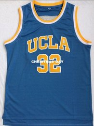 57aad6a978d7 Cheap wholesale Bill Walton Jersey  32 UCLA Bruins College Sewn Blue Jersey  Customize any name number MEN WOMEN YOUTH basketball jersey