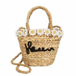 Summer Ladies Handbag Australia - natural eco designer summer season straw ladies tote shoulder hand bag crossbody women grass woven braided beach bucket handbags