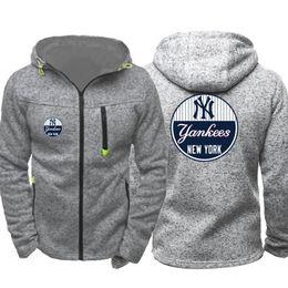 Chinese  New York hoodie Yankees Men Sport Wear Men's Hooded Hoodie Zipper Sweatshirt Male Hoody Autumn Spring Hoodies Cardigan Sweater Tracksuit manufacturers