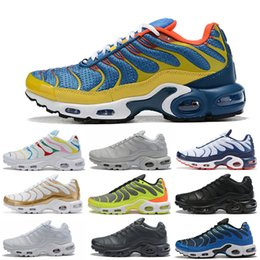 Golden color shoes online shopping - 2019 NEW Mens running shoes for mens Blue Grenn color golden running shoes speed Running Shoes outdoor sport Trainer Sneakers size