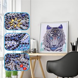 number one wholesales Australia - DIY 5D Special Shaped Diamond Painting by Number Kits, Full Drill Rhinestone Embroidery Cross Stitch Pictures for Christmas Home Decor (Tig
