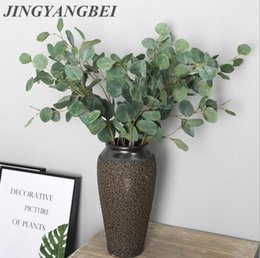 indoor green artificial plants Australia - round eucalyptus leaves Artificial plant home decorative fake flower Indoor potted