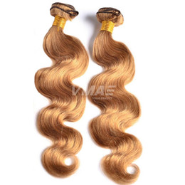 honey blonde brazilian human hair bundles NZ - Hot Selling Brazilian Body Wave Human Hair Bundles Honey Blonde Virgin Human Hair Extensions Pure Color Body Wave Brazilian Natural Hair