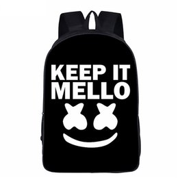 China Hot Trendy Music Marshmello DJ Helmet Print Large Capacity Travel And Leisure Backpack Student Bag Action Model for Teens cheap large print music suppliers