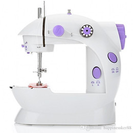 Wholesale foot sewing machine for sale - Group buy Mini Electric Handheld Sewing Machine Dual Speed Adjustment with Light Foot AC100 V Double Threads Pendal Sewing Machine