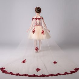 $enCountryForm.capitalKeyWord Australia - 2019 Flower Girls Dresses for Weddings Scoop Ruffles Lace Tulle Pearls Off Shoulder Princess Children Wedding Birthday Pageant Party Gowns