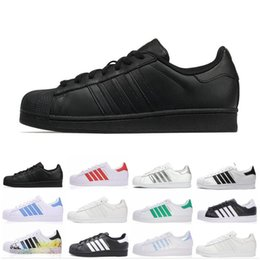 mens designer summer casual shoes UK - wholesale Superstar Men Women Running Shoes zapatos black white red designer Superstars trainer mens Sports Casual shoes Sneakers us 5-10