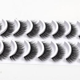 False Eyelash Extension Kits Australia - NEW 10 pairs Eyelashes 3D Natural False Eyelashes 3d Mink Lashes Soft Eyelash Extension Makeup Kit Cilios