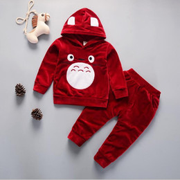 $enCountryForm.capitalKeyWord NZ - New babys Boys And Girls Suit Brand Tracksuits Kids Clothing Set Hot Sell Fashion Spring Autumn Long Sleeve Cartoon two piece suit cotton
