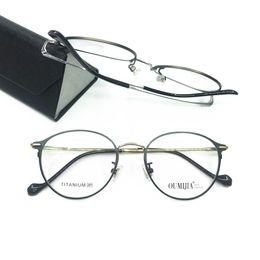 ade318dd8b 100% Pure Titanium Oval Round Eyeglass Frames Full Rim Myopia Rx able Brand  New Top Quality Glasses
