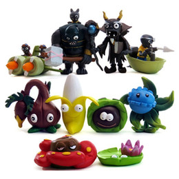 Plants Vs Zombie Figures Australia - Plants vs Zombies 7 8 generation Action Figures 10pcs set PVC Zombies Characters Collection Toy For Children M024