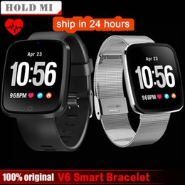 $enCountryForm.capitalKeyWord Australia - V6 Smart Watch Men Heart Rate Monitor Fitness Tracker Blood Pressure Monitor Sport Smartwatch For Ios Android Pk Mi Amazfit Bip J190522